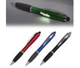 Budget Led Light Up Your Logo Pen Stylus