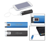 Portable Metal Power Bank Charger With Led Display - 2200mAh (UL Certified)