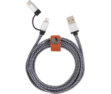 Paramount 3-in-1 Fabric Charging Cable