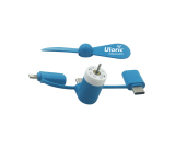 3-in-1 Universal Mini Fan for Smartphones with connectors for iPhone, Micro and Type-C