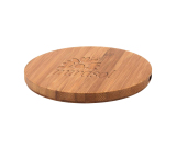 Custom Round Bamboo Wireless Charger - 5W