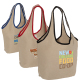 "Soft Touch Juco Shopper Bag - 17.5""w x 12.5""h x 6""d"