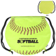 "GameTime! ® Softball Drawstring Backpack - 17""w x 14-1/2""h (at widest points)"