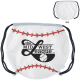 "GameTime! ® baseball Drawstring Backpack - 17""w x 14-1/2""h (at widest points)"