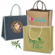 "Super Jute Shopping Tote Bag - 15-1/2""w x 14""h x 7-1/2""d"