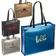 "Metallic Euro Non-Woven Tote Bag - 17.5""w x 14.5""h x 5""d"