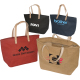 "Hamptons Jute Shopping Tote Bag - 17-1/4""w x 10-1/2""h x 5-1/2""d"