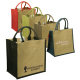"Junior Jute Tradeshow Tote Bag - 11.875""w x 12""h x 7.75""d"