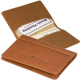 """Fire Island Business Card Case (Sueded Full-Grain Leather) - 4""""w x 2-3/4""""h x 1/8""""d"""