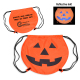 "Pumpkin Drawstring Backpack - 17"" W x 14.5"" H"