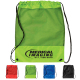 "Mesh Panel Drawstring Backpack - 14.5"" W x 18"" H x .125"" D"