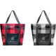 "Buffalo Plaid Laminated Shopper Tote - 15"" H X 5.5"" W X 17.5"" D"