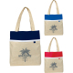 "Lined Linen Tote - 16.5"" H X 14"" W X 4.75"" D"