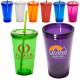 Sturdy Sipper Tumbler Cup with Straw - 16 oz.