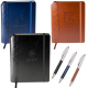 "Venezia™ Quilted Edge Journal Notebook with Pen - 5.875"" W x 8.25"" H x 0.625"" D"