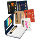 """Eco Stowaway Sticky Jotter Botebook with Pen - 4-1/8""""w x 3""""h x 1/4""""d"""