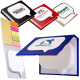 "Logo-Burst™ Sticky Book™  - 4-1/8""w x 3-1/8""h x 3/4""d"