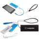 Slim Aluminum Power Bank Charger W/Micro Usb Cable Wrist Strap - 2000mAh (UL Certified)
