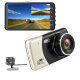 Custom Branded 4 Inch Full HD 1080P Dash Cam Wi-Fi Front and Rear Dual Dash Camera Car DVR with 170 Degree Wide Angle Dashcam