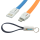2-in-1 Charging Cable Keychain for iPhone and Android Phones