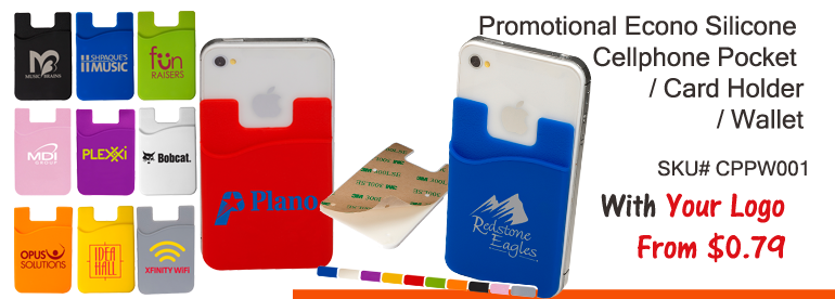 Promotional silicone Cellphone Pocket | Card Holder | Wallet