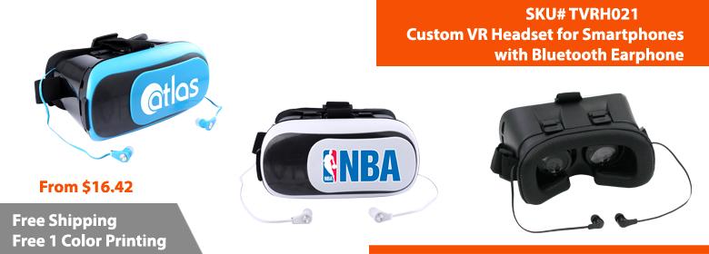 Custom VR Headset with Bluetooth Earphone | Google Cardboard Branded | TVRH021