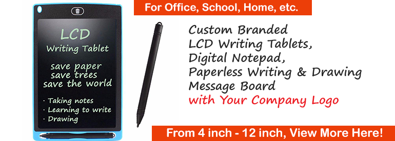 Custom Branded LCD Writing Tablets, Digital Notepad, Paperless Writing & Drawing Message Board with company Logo