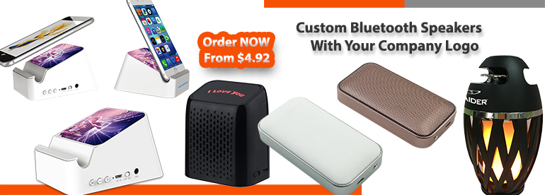 Best Custom Corporate Gifts: Designer Promotional Bluetooth Speakers with company Logo