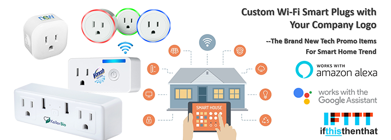 Custom Branded WiFi Smart Plugs with Company Logo